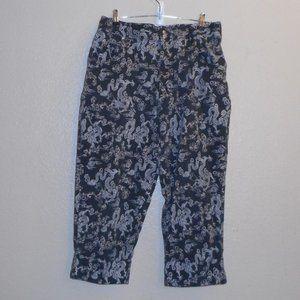 Lee  dragon print crop pants